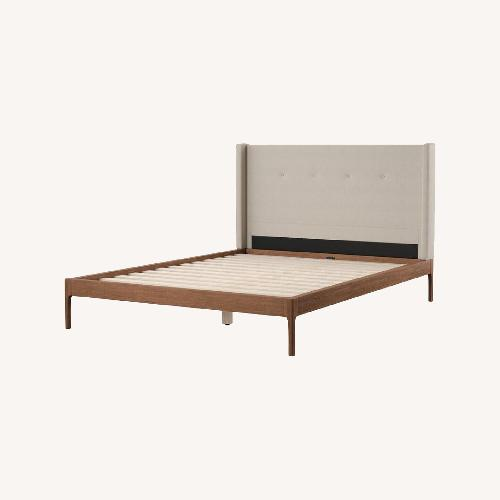 Used Joss & Main Upholstered Queen Bed for sale on AptDeco