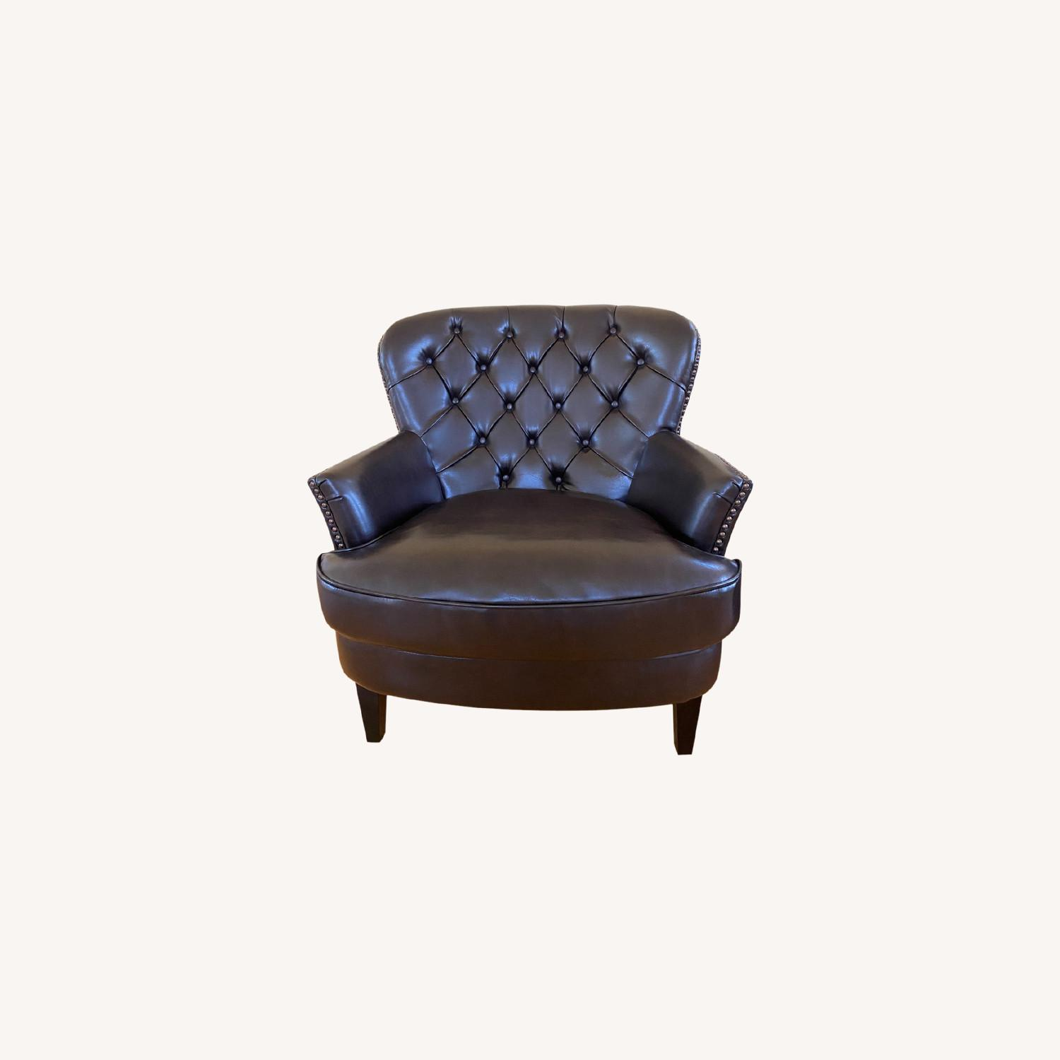 Bonded Leather Club Chair - image-0