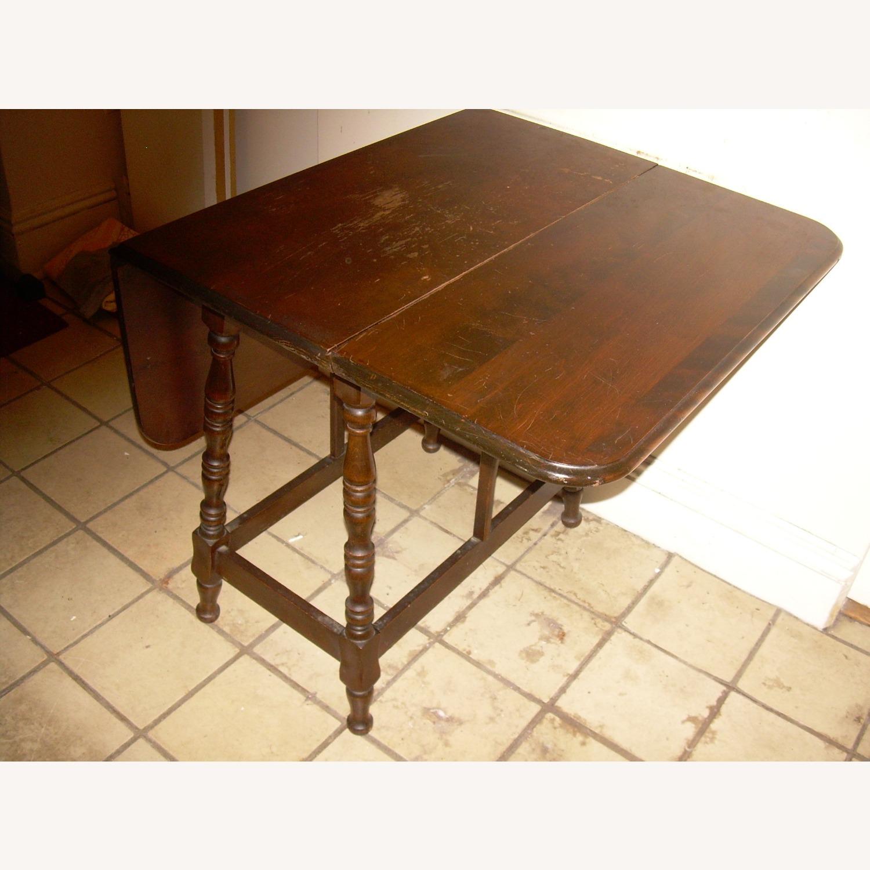 Distressed Multi use Drop Leaf Table - image-9