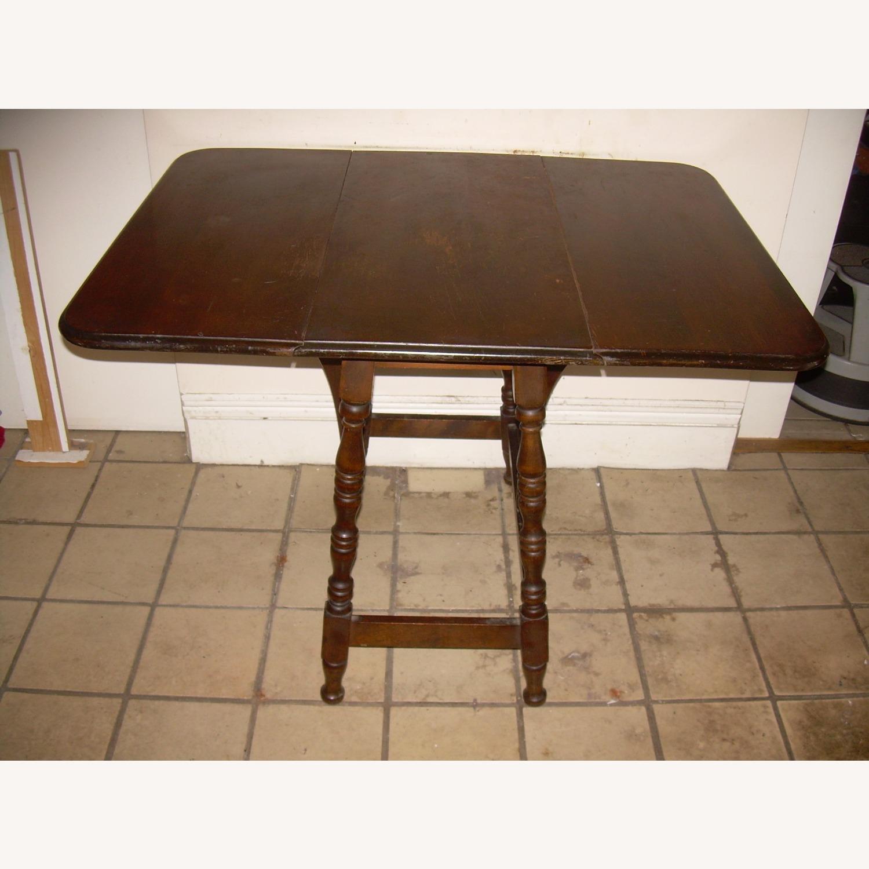 Distressed Multi use Drop Leaf Table - image-3