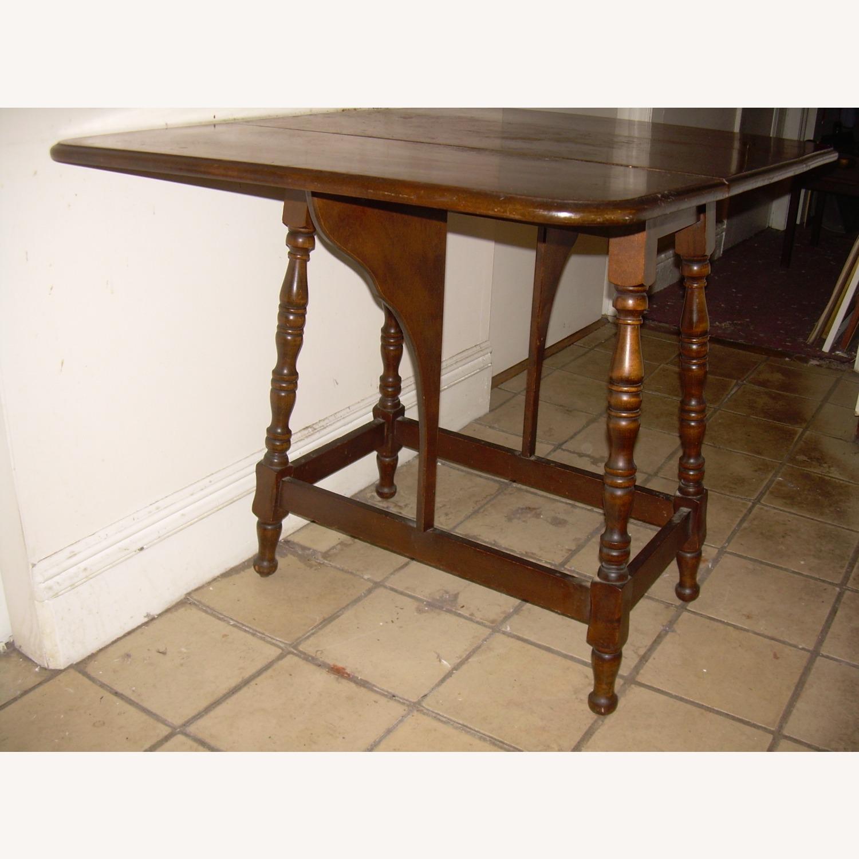 Distressed Multi use Drop Leaf Table - image-4