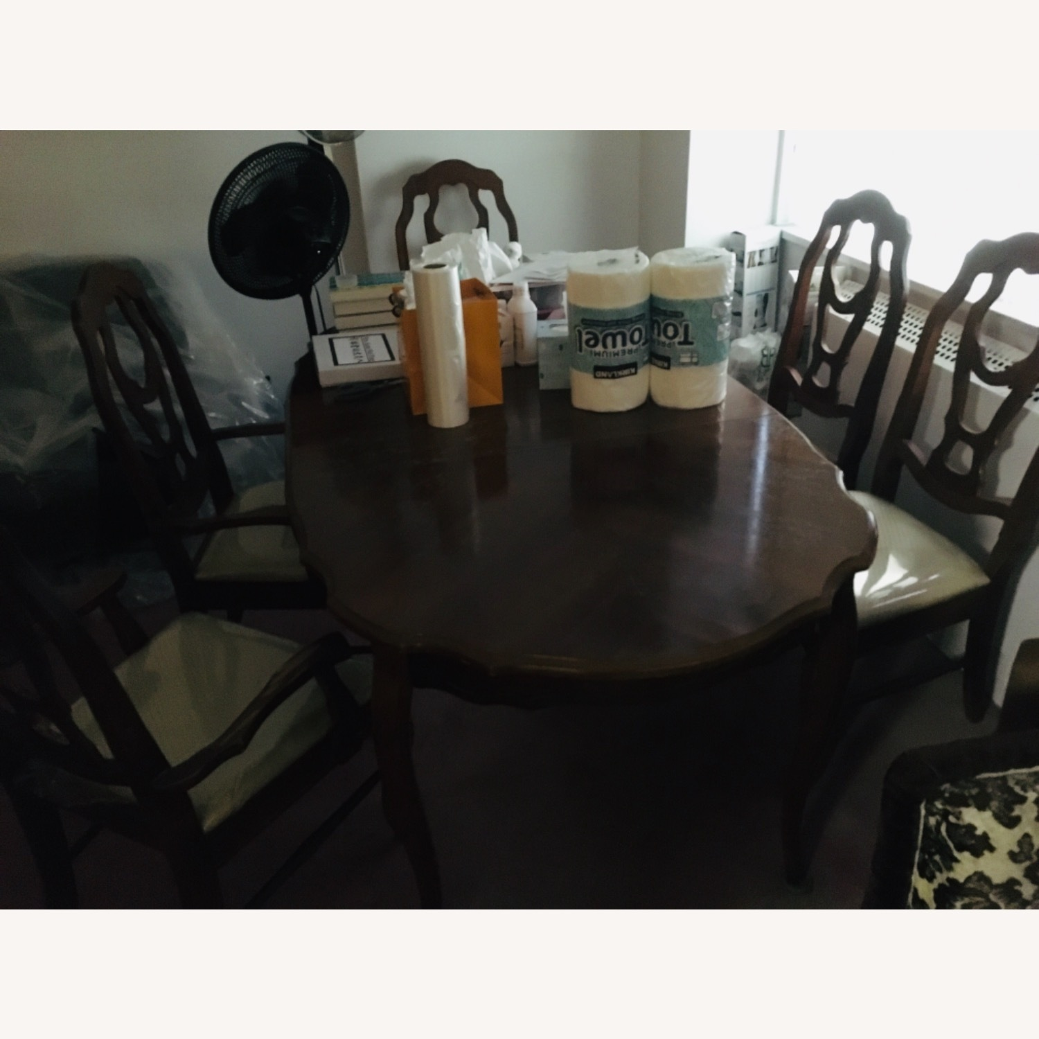 Dining table set (6 chairs + table + ext leaf) - image-4