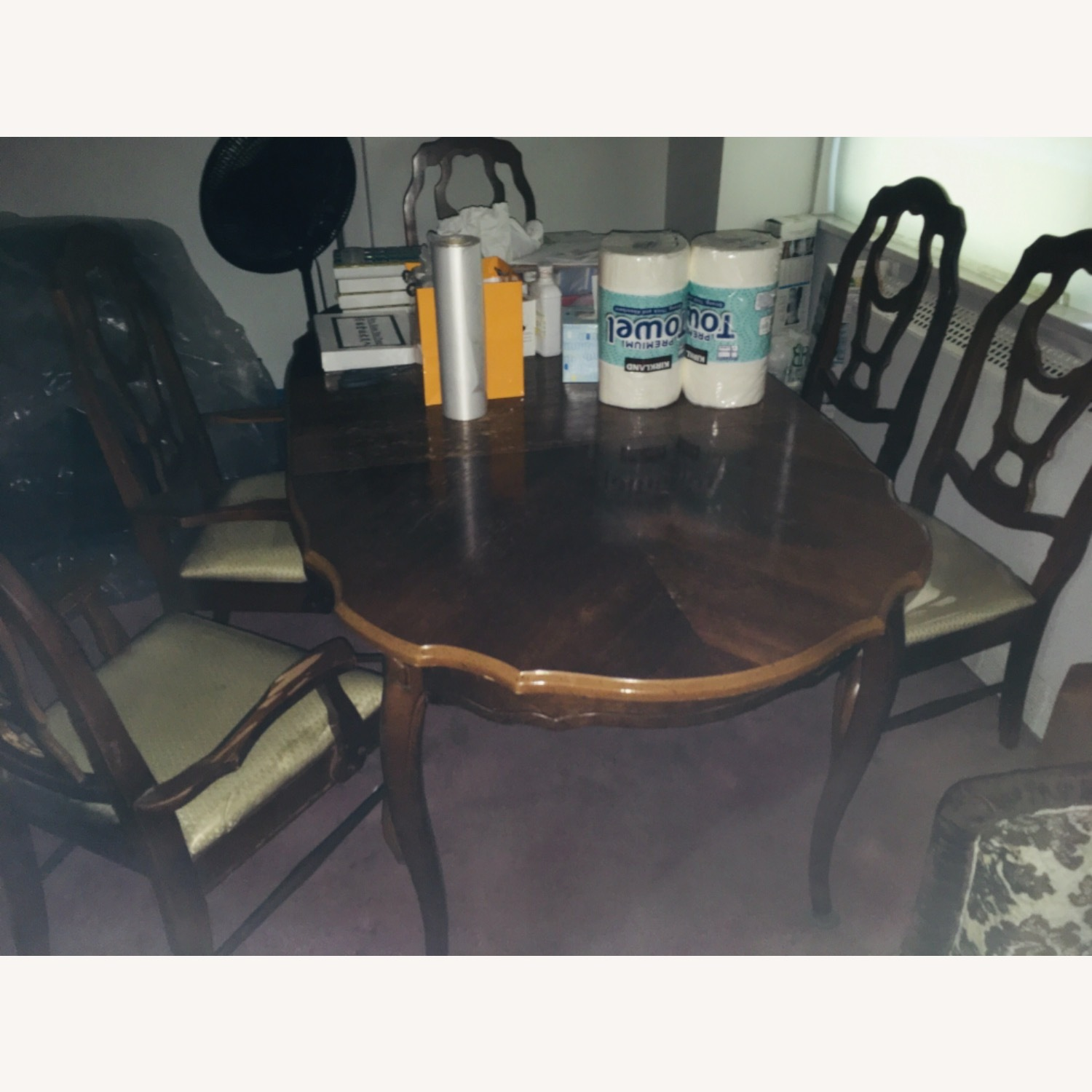 Dining table set (6 chairs + table + ext leaf) - image-1