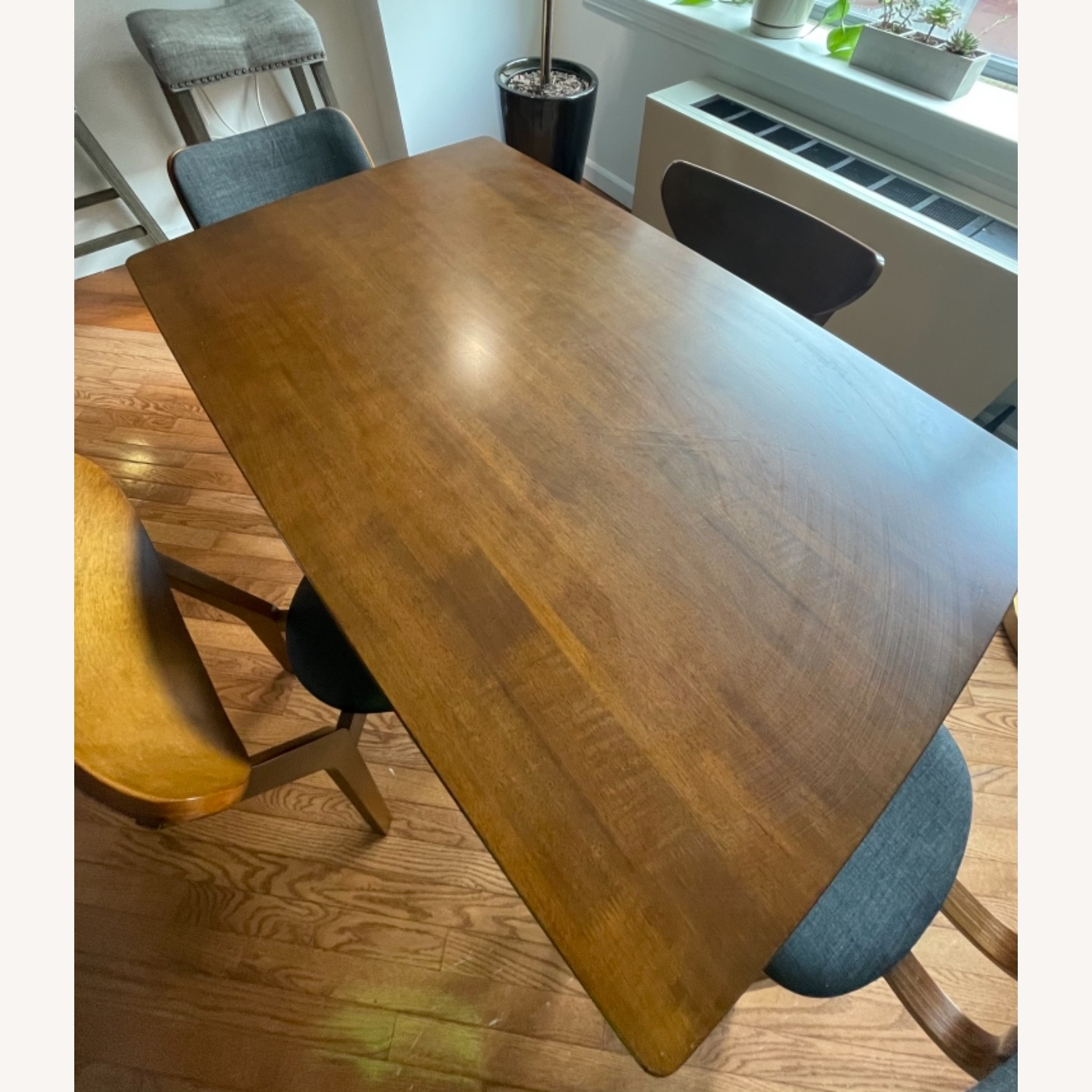 Dining Table Set & Chairs in Walnut Finish - image-1