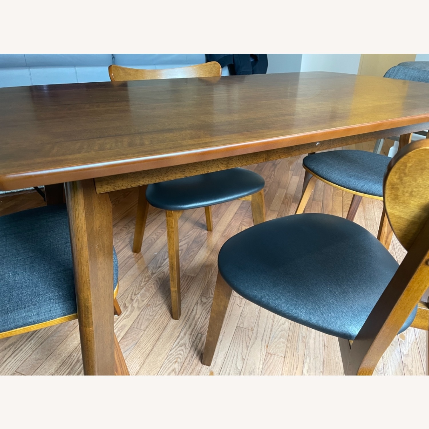 Dining Table Set & Chairs in Walnut Finish - image-2