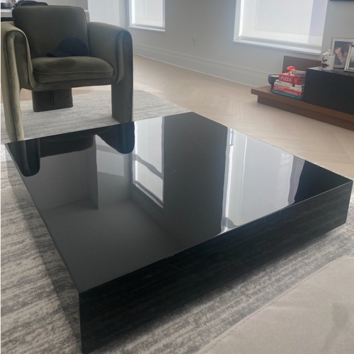 Used Rove Concepts Black Mable Coffee Table for sale on AptDeco
