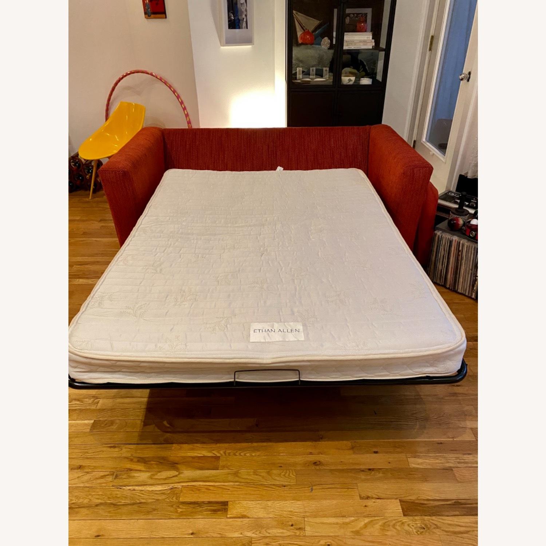 Ethan Allen Contemporary Goose Down Pillow Full Sleeper Sofa - image-6