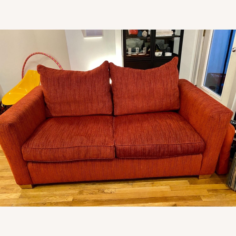 Ethan Allen Contemporary Goose Down Pillow Full Sleeper Sofa - image-1