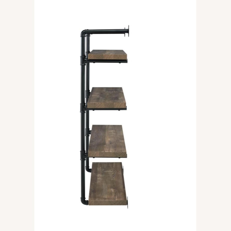 Wall Shelf In Rustic Oak W/ Open Shelves - image-2