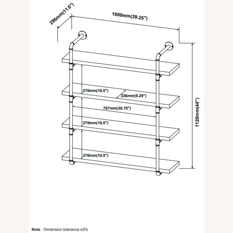 Wall Shelf In Rustic Oak W/ Open Shelves - image-6