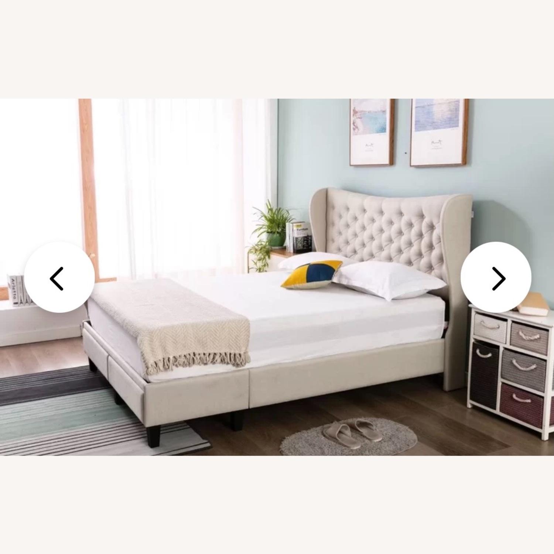 Wayfair Beige Upholstered Storage Platform Bed - image-2