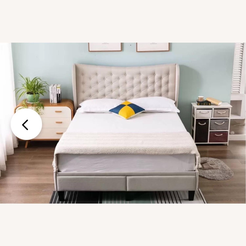 Wayfair Beige Upholstered Storage Platform Bed - image-1