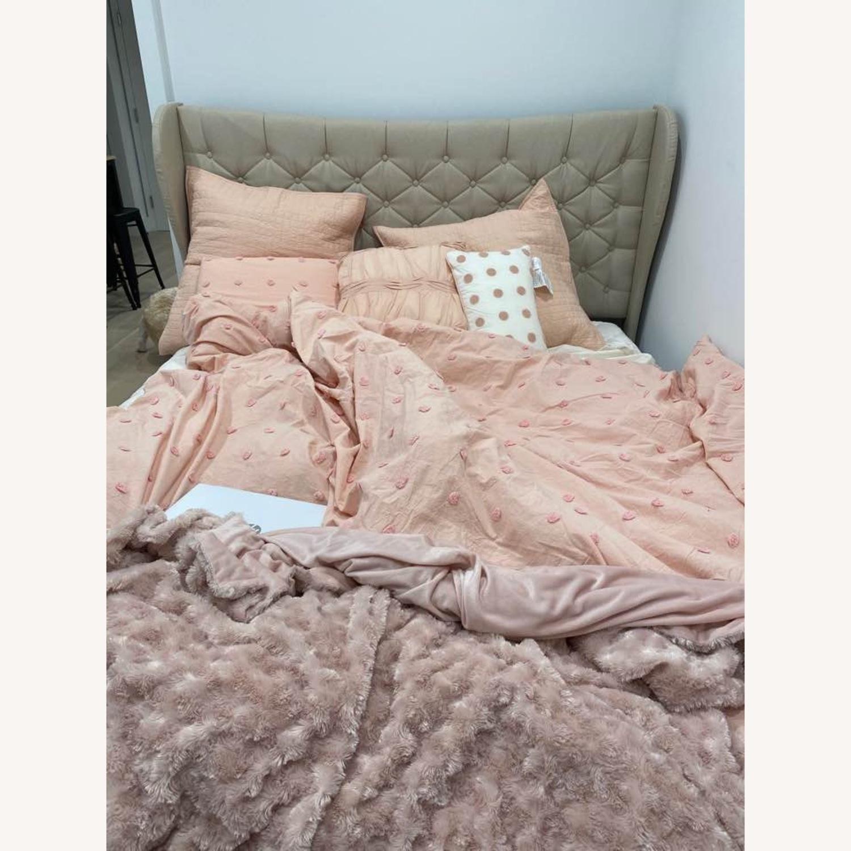 Wayfair Beige Upholstered Storage Platform Bed - image-3