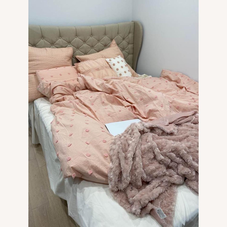 Wayfair Beige Upholstered Storage Platform Bed - image-4