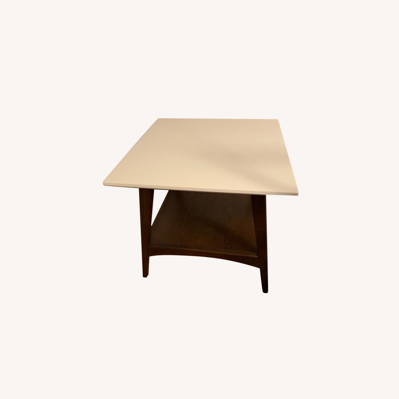 End Table White/Pecan/Parker - image-0