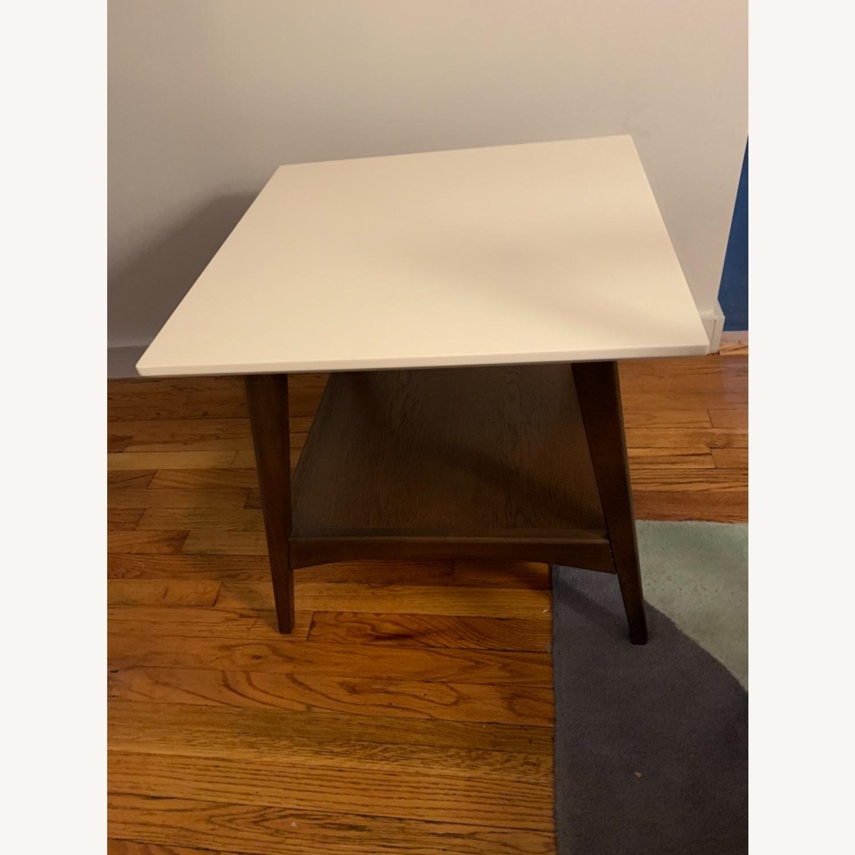 End Table White/Pecan/Parker - image-2