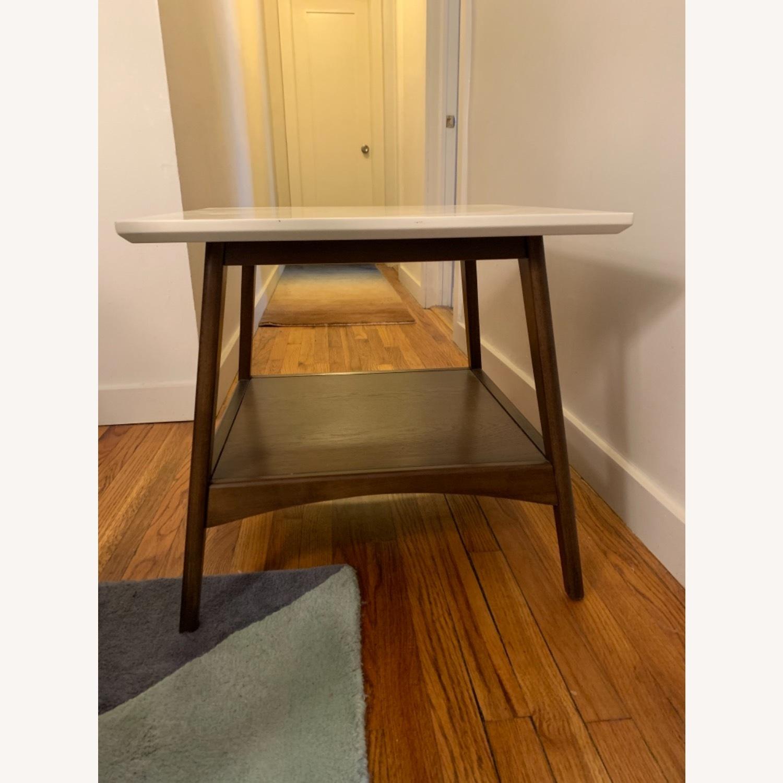 End Table White/Pecan/Parker - image-1