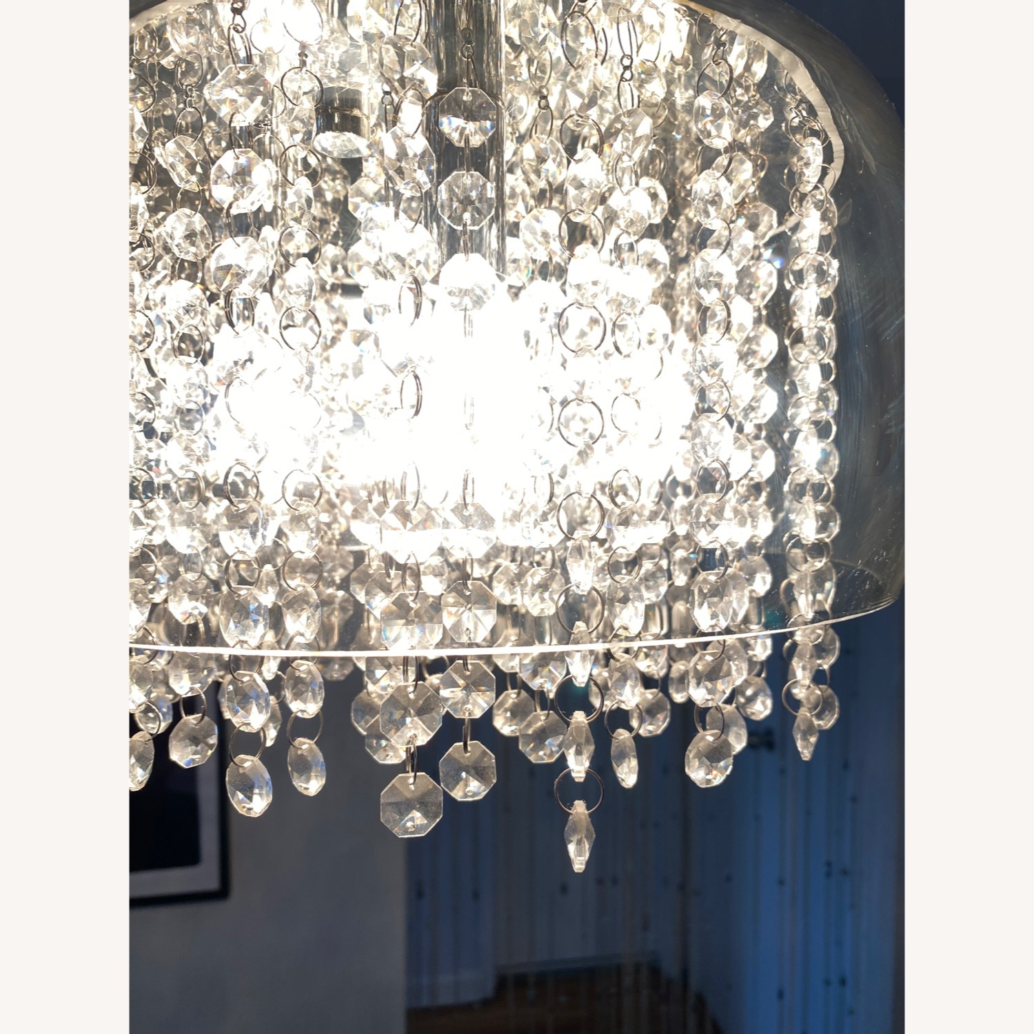 Modern Glass and Crystal Chandelier - image-3