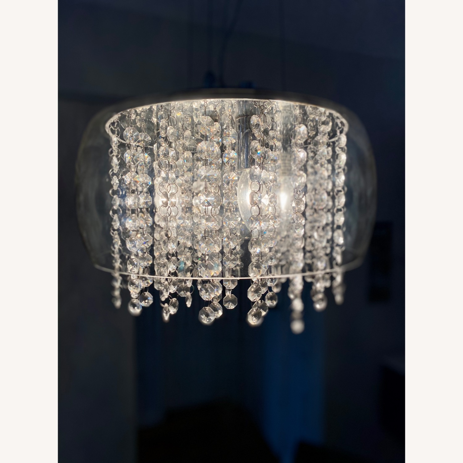 Modern Glass and Crystal Chandelier - image-2