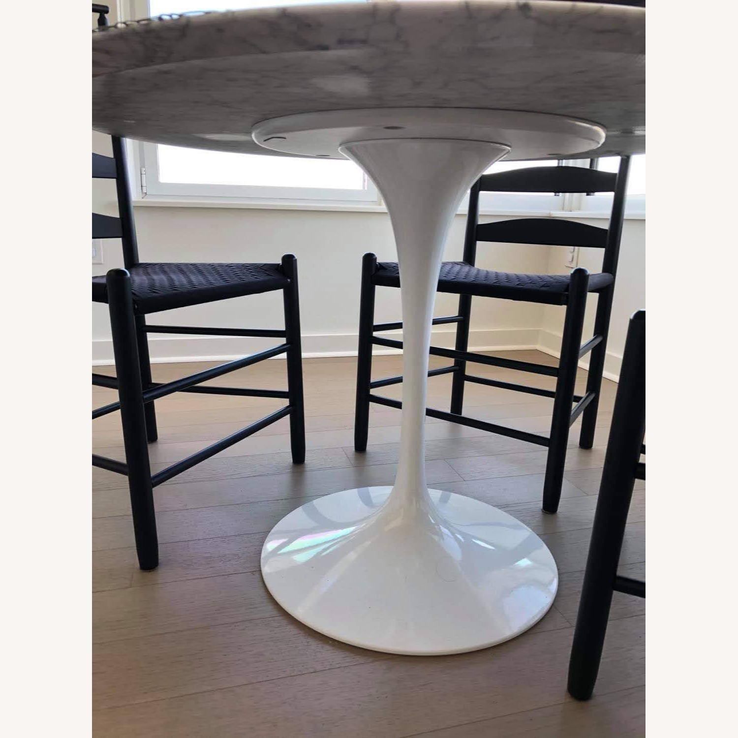 Knoll Saarinen Dining Table with Carrara Marble Top - image-6
