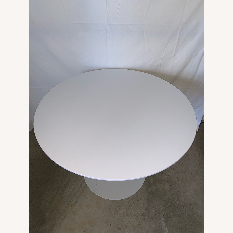 Sunon Round Table with Pedestal Base Moon White - image-1