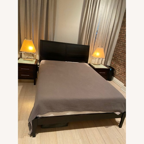 Used Copeland Furniture Modern Wooden Queen Bed for sale on AptDeco