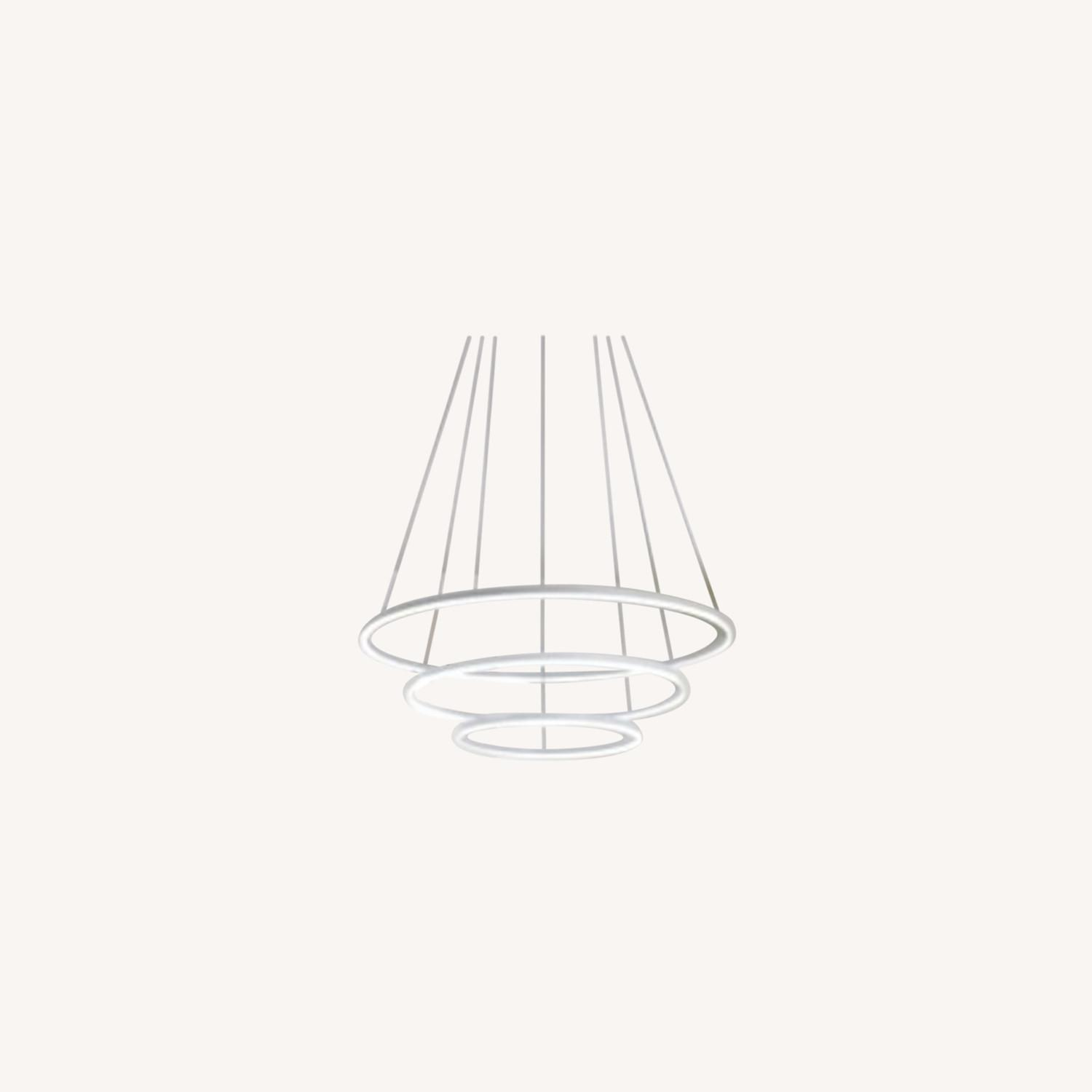 Modern Dimmable 3-Tier White LED Chandelier - image-0