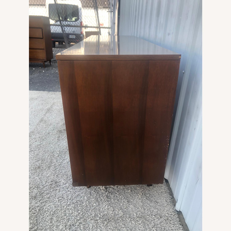 Mid Century 9 Drawer Dresser with Brass Hardware - image-3