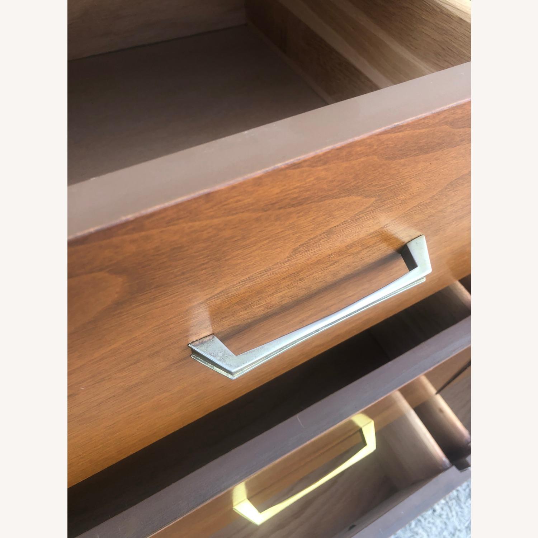 Mid Century 9 Drawer Dresser with Brass Hardware - image-10