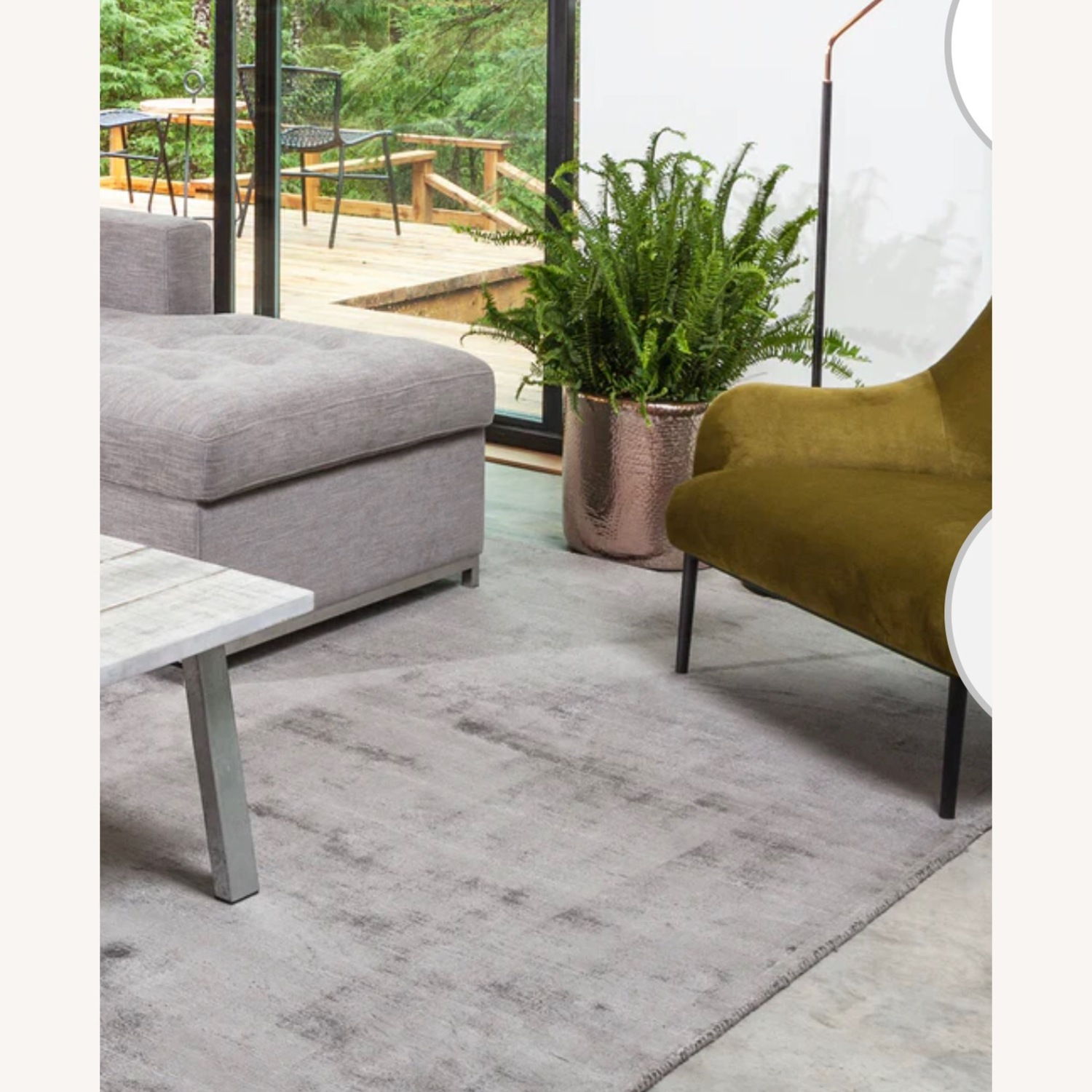 Article Silver Color Rug - image-1