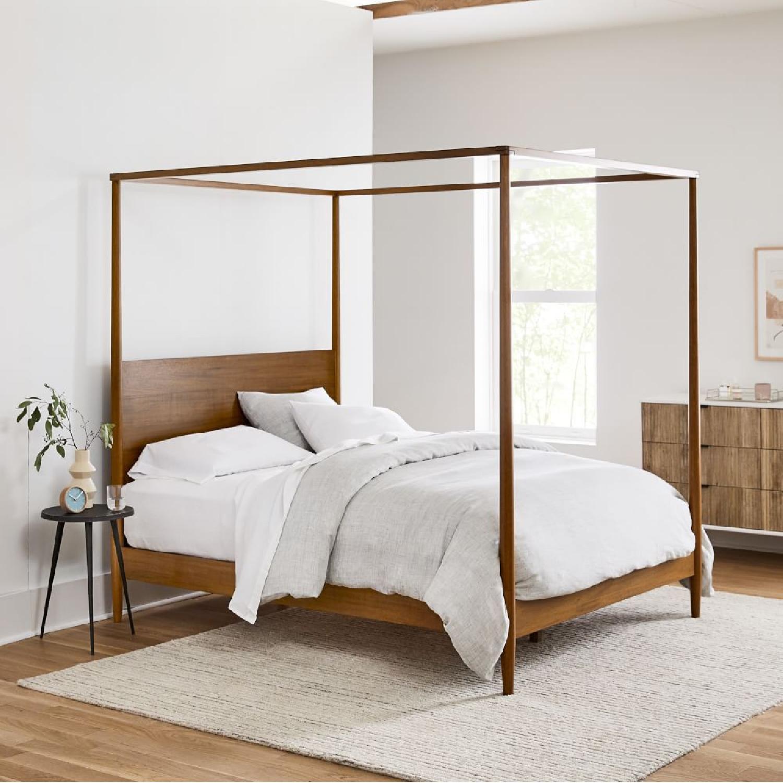 West Elm Sawyer Canopy Bed - image-4