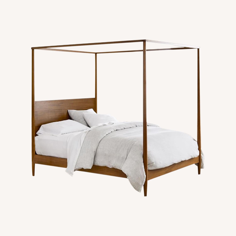 West Elm Sawyer Canopy Bed - image-0
