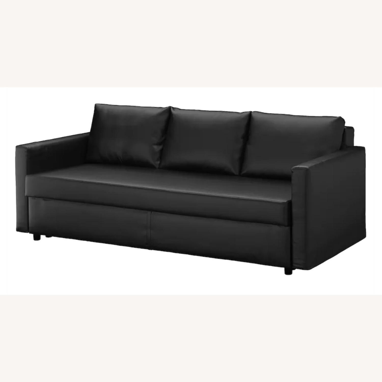 IKEA Black Sleeper Sofa - image-0