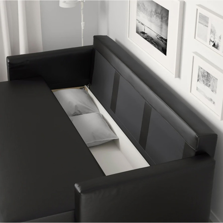IKEA Black Sleeper Sofa - image-1