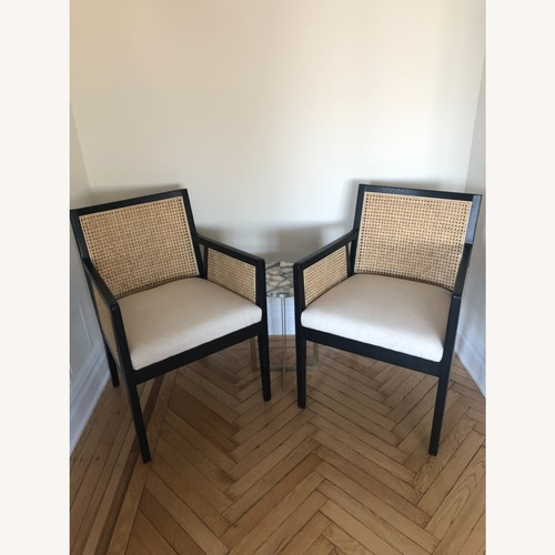 Used Zin Home Cane Dining Chairs for sale on AptDeco