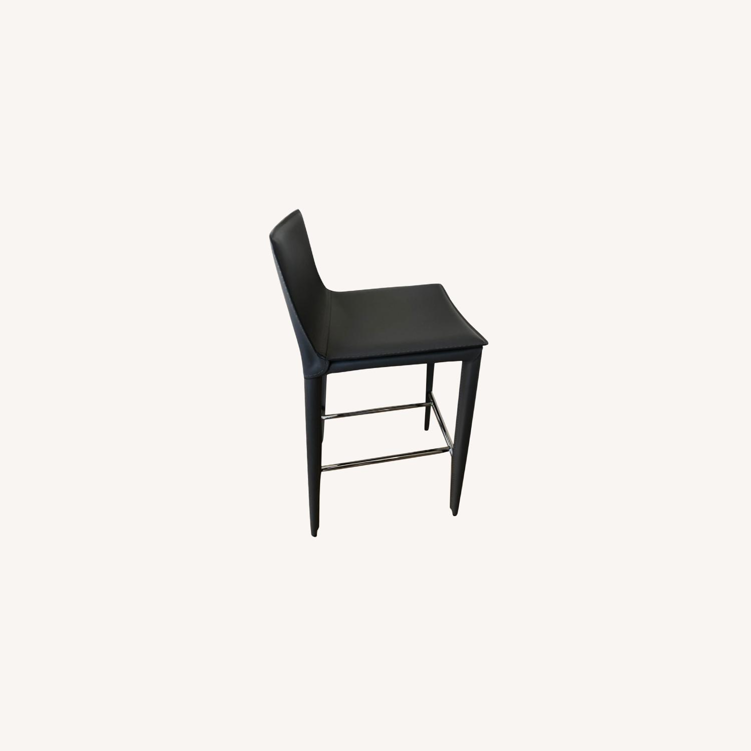 Pair of Bonded Leather Counter Stools (Cite) - image-0