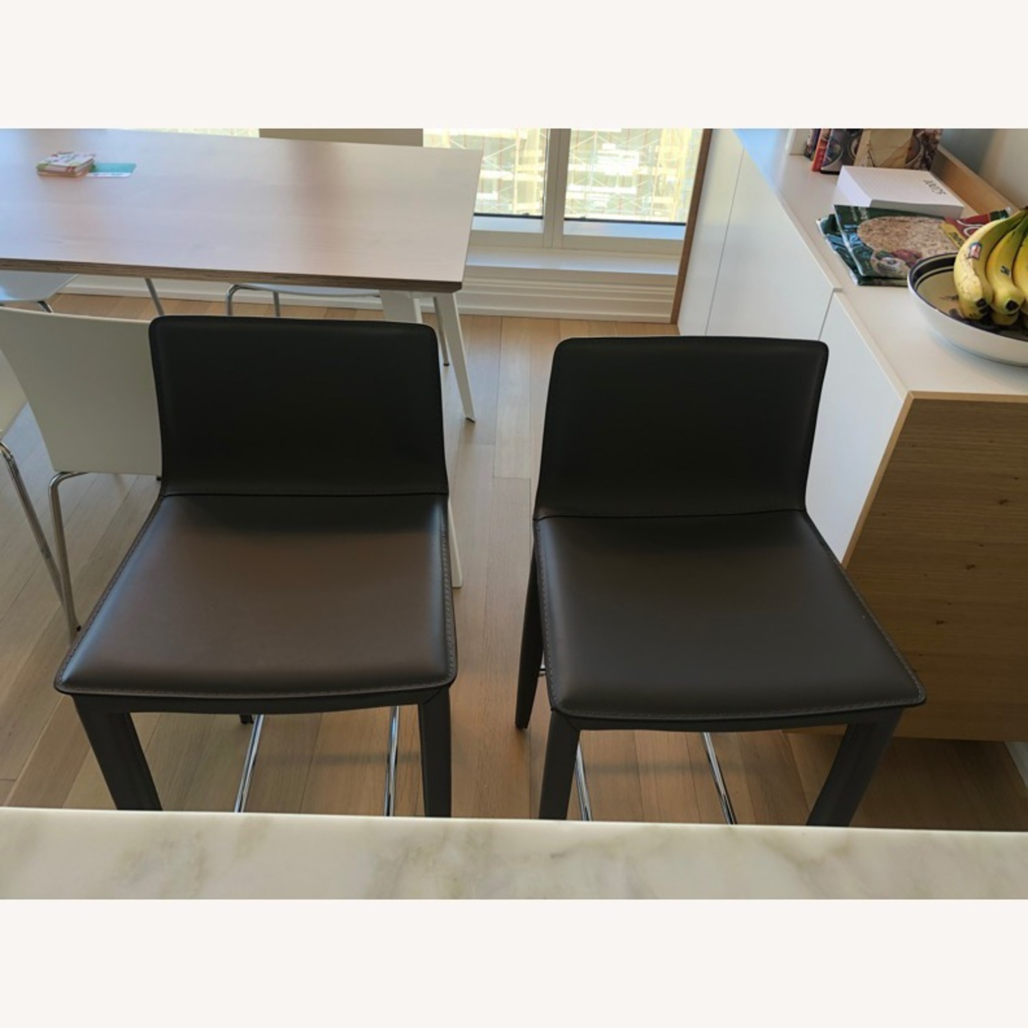 Pair of Bonded Leather Counter Stools (Cite) - image-3