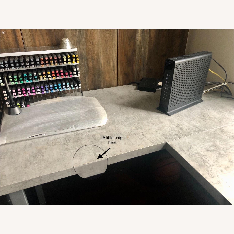 Monarch Computer Desk White / Cement - image-6