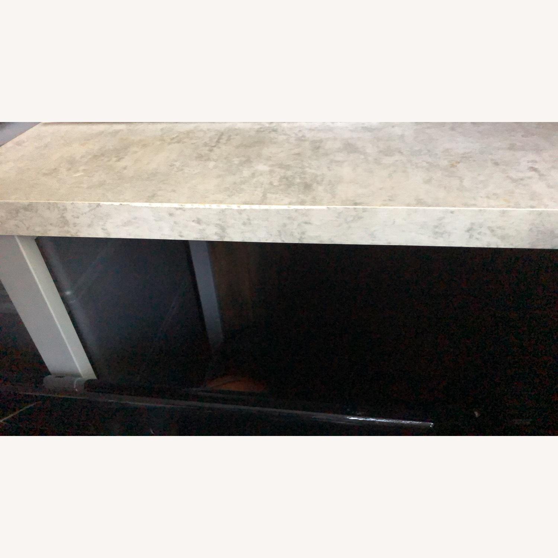 Monarch Computer Desk White / Cement - image-7