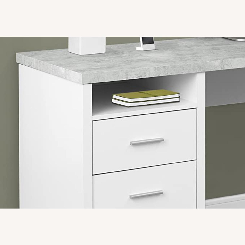Monarch Computer Desk White / Cement - image-3