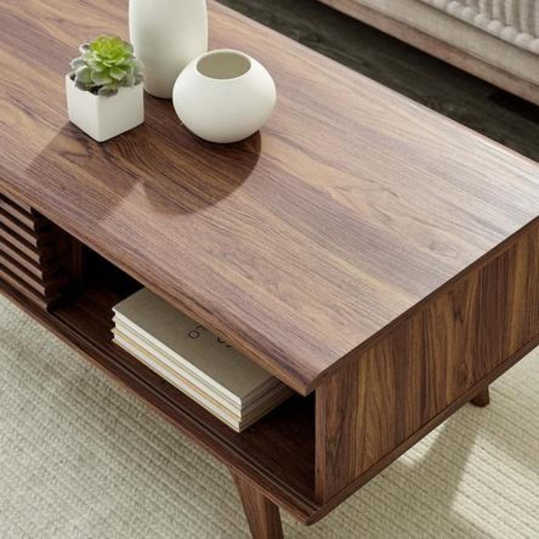 Mid-Century Modern Coffee Table In Walnut Finish - image-5