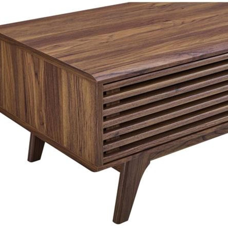Mid-Century Modern Coffee Table In Walnut Finish - image-4