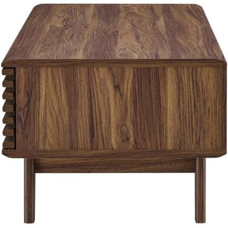 Mid-Century Modern Coffee Table In Walnut Finish - image-3