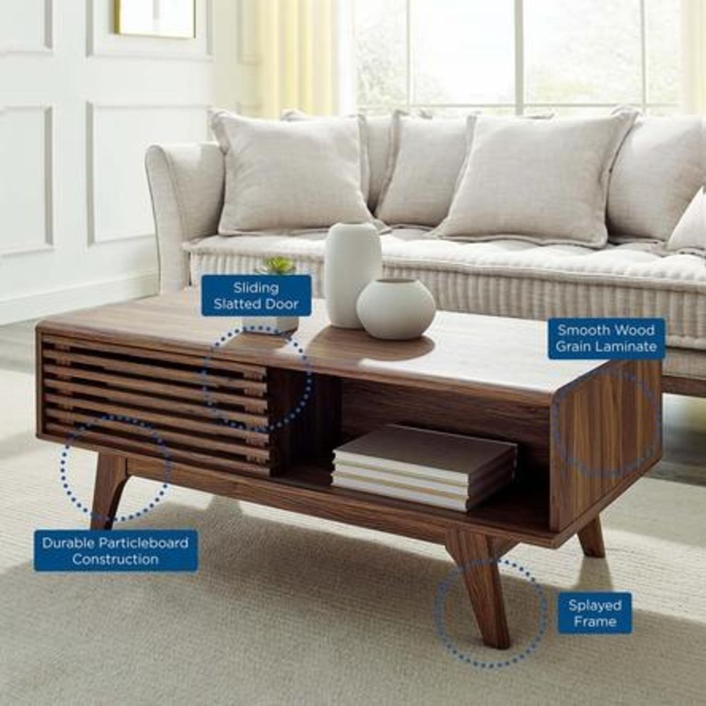 Mid-Century Modern Coffee Table In Walnut Finish - image-6