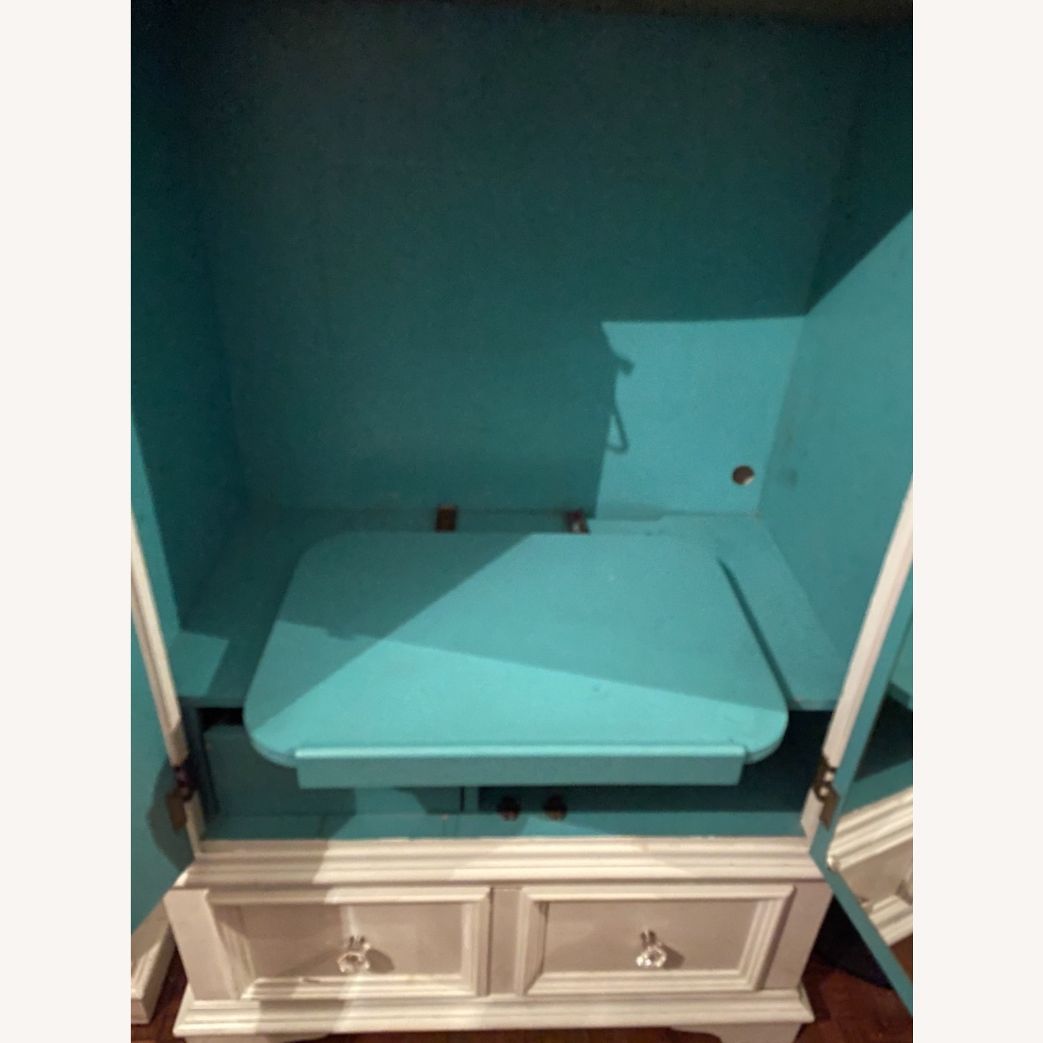 White with Interior Teal Armoire - image-10