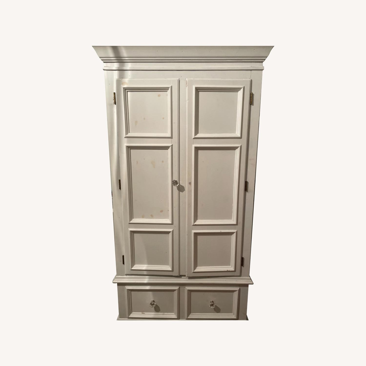 White with Interior Teal Armoire - image-0