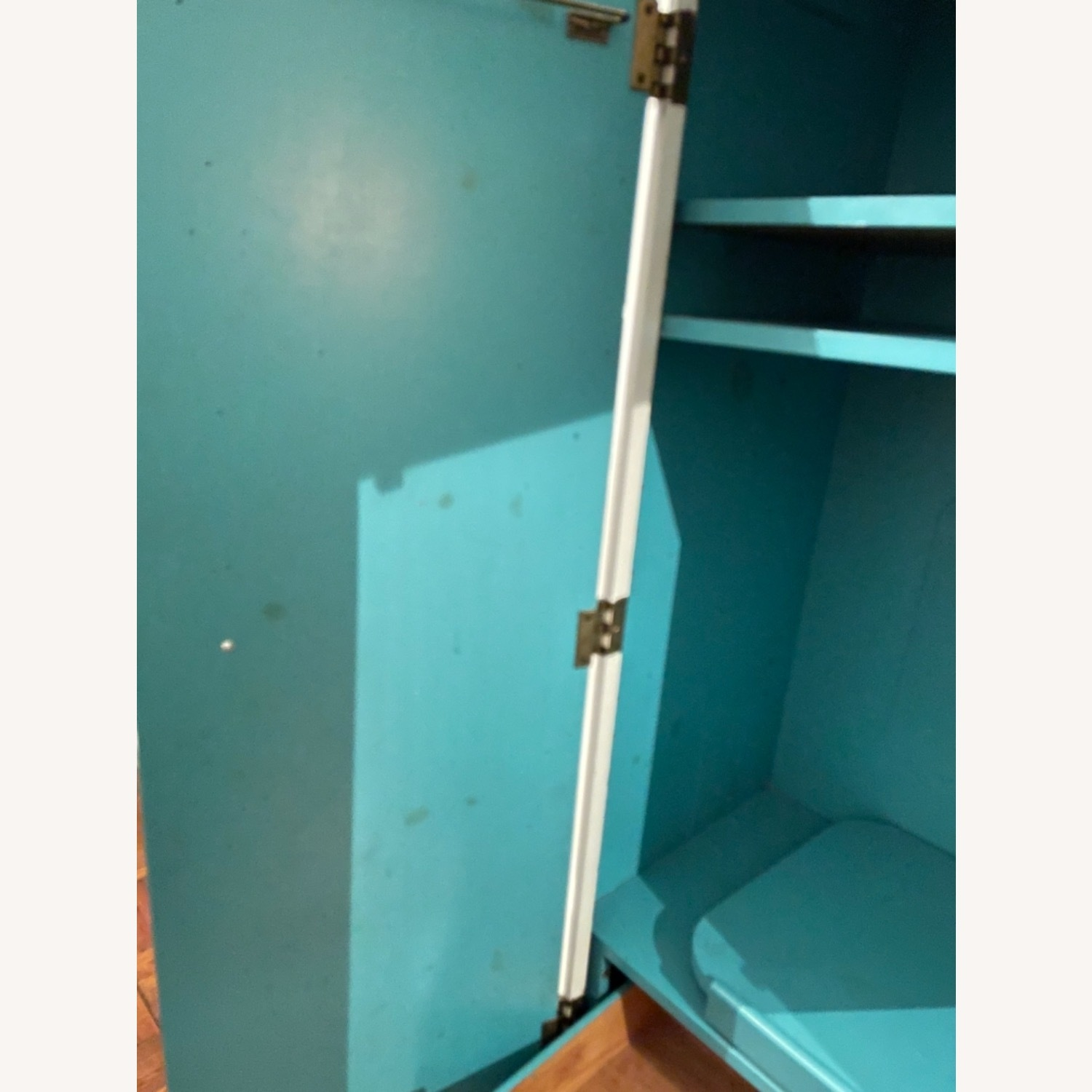 White with Interior Teal Armoire - image-11