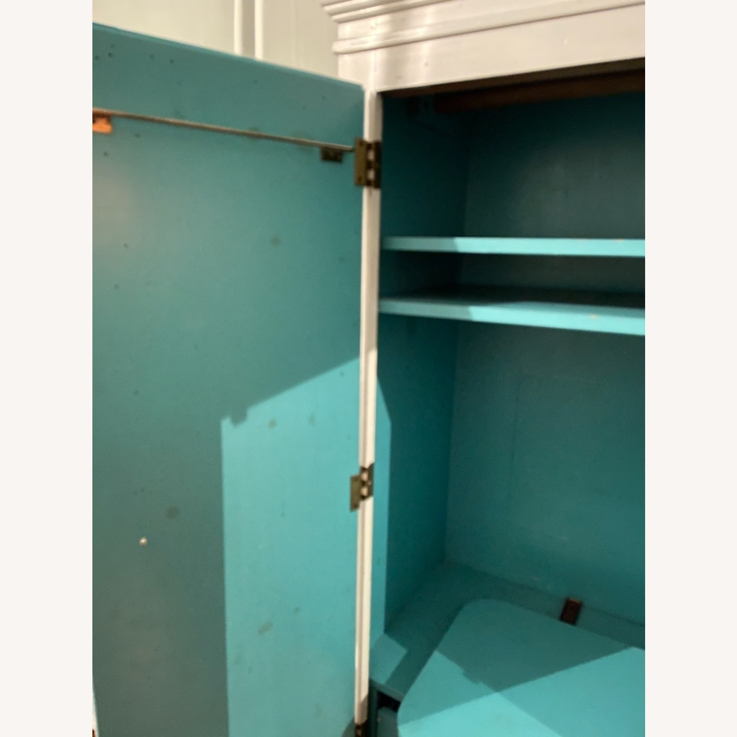 White with Interior Teal Armoire - image-9