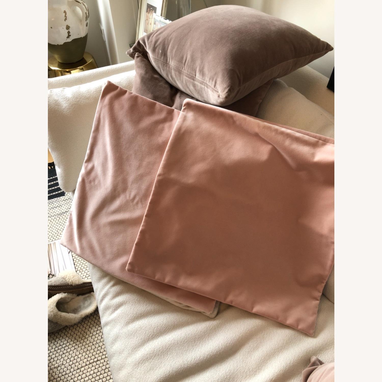 Little Design Blush Velvet Pillow Set - image-1