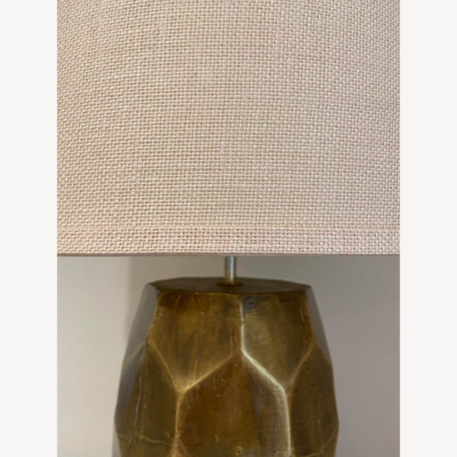 Pottery Barn Hammered Golden Honeycomb Lamps (2) - image-4